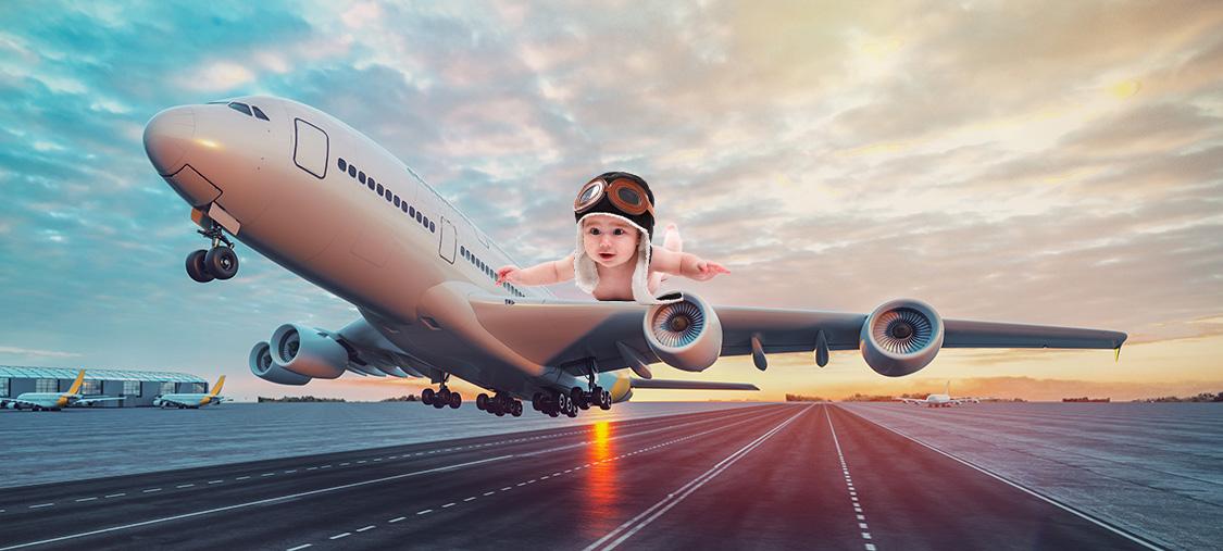 Bebê nasce em voo e agora podera viajar de graca para o resto da vida