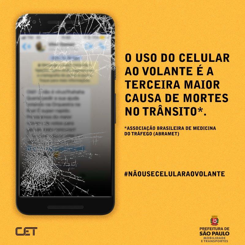 Propaganda da CET-SP, baseada nas estatísticas da Abramet.