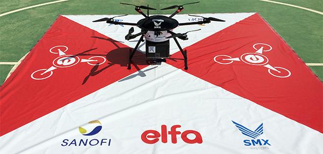 Grupo Elfa e Sanofi iniciam testes para transportar cargas com drones