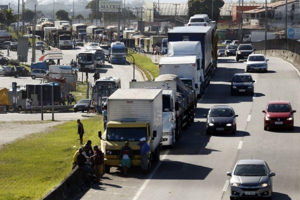 Paralisação dos caminhoneiros. Foto: Thomaz Silva/Agência Brasil)/Agência Brasil