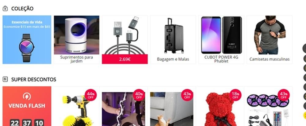 O Gearbest oferece uma grande variedade de produtos eletrônicos — Foto: Reprodução/Mirella Stivani