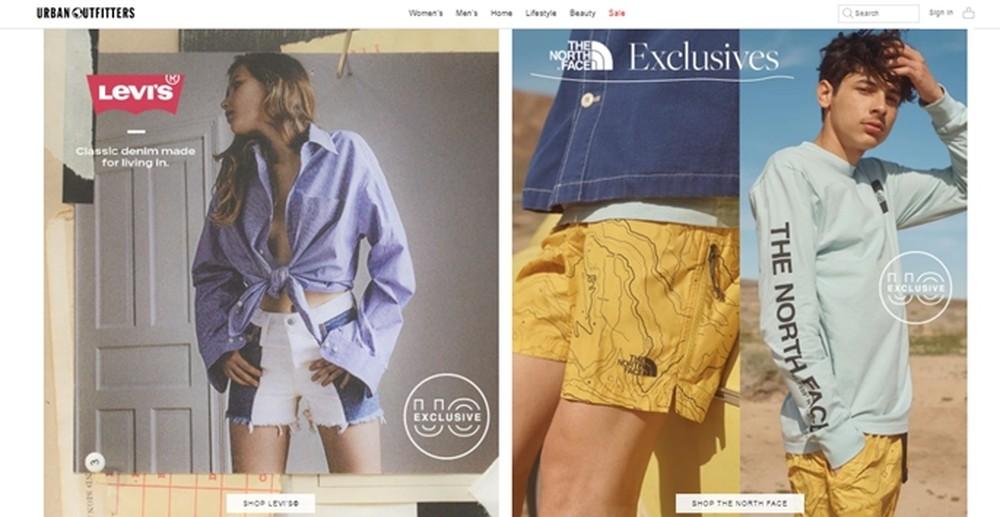 Urbanoutfitters, site especializado em vendas de roupas internacionais — Foto: Reprodução/Mirella Stivani